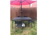Garden set table + 6 chairs