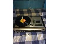 Philips 972 Vintage Record Player and Records
