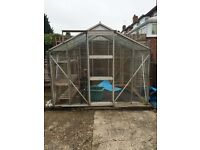 Glass Greenhouse for Sale! Dimensions are 2.40m/7.9ft X 1.88m/6.1ft Collection Only Buyer dismantles