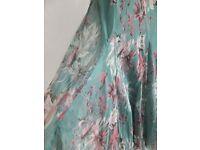 ✩MONSOON✩ Pretty ADELA Floaty Silk Chiffon Cocktail Dress - Size 16