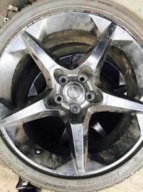 "Original Gloss Black Vauxhall Penta Alloys 18"""