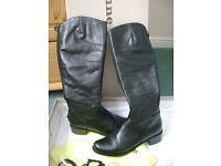 Ladies DUNE black full length boots, size 5, full length zip at back - £40