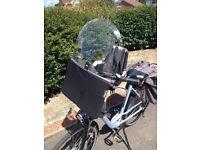 Bobike children's bicycle seat & windscreen