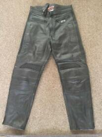 Motorcycle black leather trousers