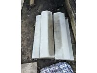 Concrete coping stones x 7