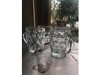 Glass Beer Cup x4