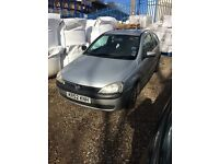 Vauxhall Corsa 2003 11 month Mot 96500 miles non runner spares repairs to be towed away 07411943993