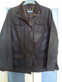 Barbour Ladies Utility Jacket very good condition sz 16 waxed Loveley jacket