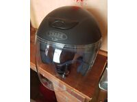 Motorcycle helmet size large open face with full visor immaculate