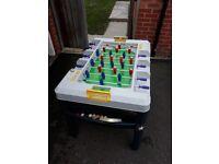 Children's multi-purpose table football/pool/table tennis/air hockey set