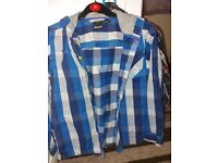 Boys checked shirts x3