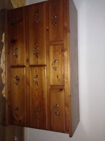 Wardrobe and drawers plus bedside cabinets
