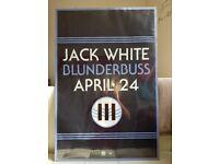 Jack White Blunderbuss Framed Promo Poster 24 x 36 Double Sided