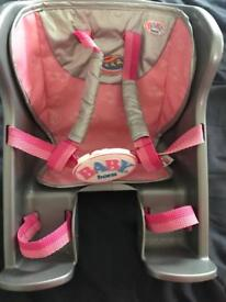Baby born bike carrier