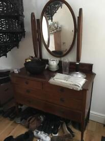 Stunning Vintage Chest of Drawers with Mirror