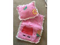 Peppa Pig Duvet & Pillow for doll cot
