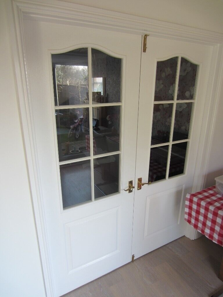 timeless design 6696a b8039 2 x TWO PANEL ARCHED INTERNAL GLAZED DOORS ~ STANDARD SIZE @ 198 X 76 cm ~  B&Q | in Bury, Manchester | Gumtree