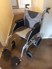 "20"" Seat Enigma Ultra Lightweight Aluminium Transit Wheelchair"