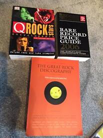 Music books incl take that and spice girls and reference books