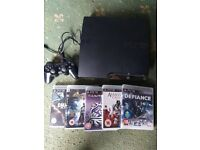 ps3 250GB with 7 game 1 pad all cabels