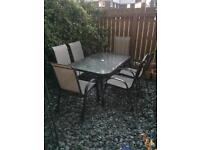 Garden Furniture - Glass Table w 6 Chairs - Originally from Oman