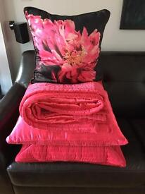 Throw and cushions from Next