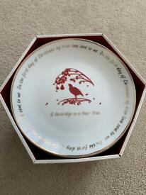 Porcelain plates - 12 days of Christmas -NEW