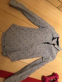 Zara shirt blue and white strip size small