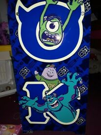 2 Monsters university bookcases
