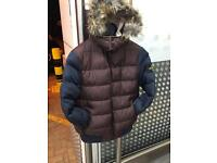 Stone island jacket with fur
