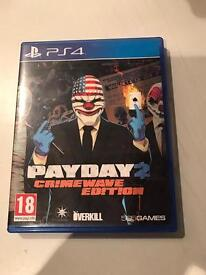 payday 2 - crimewave edition , ps4 , as new ! price stands , no offers !