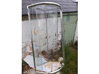 Shower Enclosure Quadrant Corner Walk in Tray Doors for sale  Heanor, Derbyshire