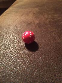 Red round dice