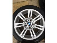 """Bmw 3 series alloys 17"""" with tires"""