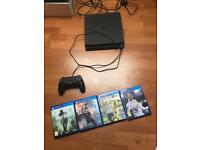 PS4 500GB with games and controller