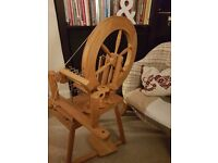 Ashford spinning wheel. Traditional wheel great for a new spinner..