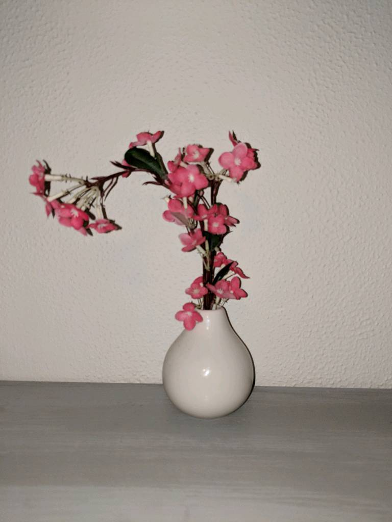 Pink Flowers In Vase Fake In Poole Dorset Gumtree