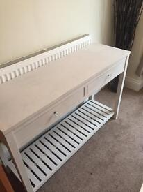 Shabby chic large console table