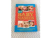 Selection of baby name books