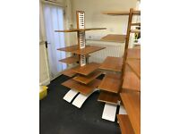 3x Double Sided Retail Display / Shelving Units - Solid Wood, Mobile on wheels, Adjustable