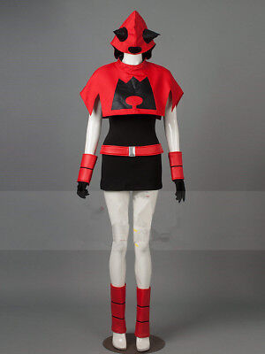 Womens Monster Costumes (Pocket Monster / Pokemon Team Magma Women's Cosplay Costume/Free)