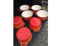 Cast iron cooking pans