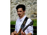 Bass guitar tuition in your own home or at mine