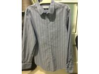 Versace collection striped shirt 16.5 inch neck