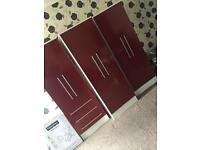 Good condition set of three wardrobes for sale