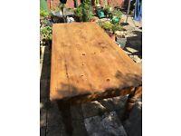 Beautiful original antique solid pine farmhouse dining table