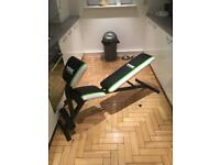 York Fitness Weight Bench, Arm Curl, Abs Bench in 1 Like New