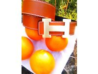Hermes belt in brown with gold buckle-new