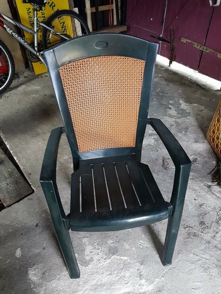 garden chairs green high back plastic x5 in plymouth devon gumtree