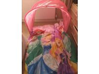 Disney princess single bed Canopy & bedding as new